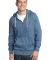 District Young Mens Marled Fleece Full Zip Hoodie  Mrld Storm Blu