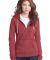 District Juniors Marled Fleece Full Zip Hoodie DT2 Mrld Deep Red
