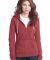 District Juniors Marled Fleece Full Zip Hoodie DT292 Catalog