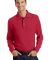 Port Authority Long Sleeve Pique Knit Polo K320 Red