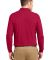 Port Authority Long Sleeve Silk Touch153 Polo K500 Red