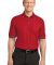 Port Authority Silk Touch153 Tipped Polo K502 Red/Steel Grey