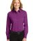 Port Authority Ladies Long Sleeve Easy Care Shirt  Deep Berry