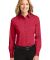 Port Authority Ladies Long Sleeve Easy Care Shirt  Red/Lt Stone
