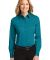 Port Authority Ladies Long Sleeve Easy Care Shirt  Teal Green