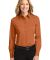 Port Authority Ladies Long Sleeve Easy Care Shirt  Texas Orange