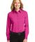 Port Authority Ladies Long Sleeve Easy Care Shirt  Tropical Pink