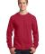 Port  Company Long Sleeve 54 oz 100 Cotton T Shirt Red