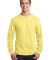 Port  Company Long Sleeve 54 oz 100 Cotton T Shirt Yellow