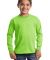 Port  Company Youth Long Sleeve Essential T Shirt  Lime