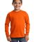 Port  Company Youth Long Sleeve Essential T Shirt  Orange