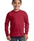 Port  Company Youth Long Sleeve Essential T Shirt  Red