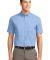 Port Authority Short Sleeve Easy Care Shirt S508 Lt Blue/Lt Stn