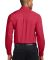 Port Authority Long Sleeve Easy Care Shirt S608 Red/Lt Stone