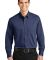 Port Authority Tonal Pattern Easy Care Shirt S613 Blue