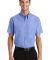 Port Authority Short Sleeve Value Poplin Shirt S63 Light Blue