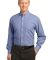 Port Authority Plaid Pattern Easy Care Shirt S639 Navy