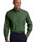 Port Authority Crosshatch Easy Care Shirt S640 Dk Cactus Grn