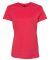 Hanes Ladies Nano T Cotton T Shirt SL04 Heather Red