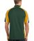 Sport Tek Tricolor Micropique Sport Wick Polo ST65 Forest/Gold/Wh