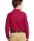Port Authority Youth Long Sleeve Silk Touch153 Pol Red