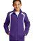 Sport Tek Youth Colorblock Raglan Jacket YST60 Purple/White