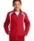 Sport Tek Youth Colorblock Raglan Jacket YST60 True Red/White