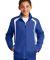 Sport Tek Youth Colorblock Raglan Jacket YST60 True Royal/Wht
