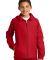 Sport Tek Youth Hooded Raglan Jacket YST73 True Red
