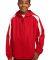 Sport Tek Youth Fleece Lined Colorblock Jacket YST True Red/White
