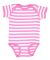 4400 Onsie Rabbit Skins® Infant Lap Shoulder Cree RSPBRRY/ WH STRP