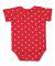 4400 Onsie Rabbit Skins® Infant Lap Shoulder Cree RED/ WHITE DOT