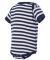 4400 Onsie Rabbit Skins® Infant Lap Shoulder Cree NAVY/ WHT STRPE