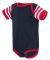 4400 Onsie Rabbit Skins® Infant Lap Shoulder Cree NV/ RD/ RD WH ST