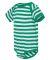 4400 Onsie Rabbit Skins® Infant Lap Shoulder Cree KELLY/ WHITE STR