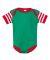 4400 Onsie Rabbit Skins® Infant Lap Shoulder Cree KL/ RD/ RD WH ST