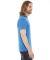 BB401 American Apparel Unisex Poly-Cotton Short Sl Neon Hthr Blue