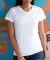 1507 SubliVie Ladies V-Neck Polyester T-Shirt White