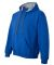 185C00 Gildan Adult Heavy BlendContrast Hooded Swe ROYAL/ SPORT GRY