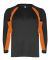 2154 Badger Youth Performance Long-Sleeve Hook Ath Black/ Burnt Orange