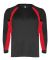 2154 Badger Youth Performance Long-Sleeve Hook Ath Black/ Red