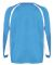 2154 Badger Youth Performance Long-Sleeve Hook Ath Columbia Blue/ White