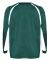 2154 Badger Youth Performance Long-Sleeve Hook Ath Forest/ White