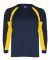 2154 Badger Youth Performance Long-Sleeve Hook Ath Navy/ Gold