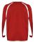 2154 Badger Youth Performance Long-Sleeve Hook Ath Red/ White