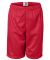 2207 Badger Youth Mesh/Tricot 6-Inch Shorts Red