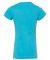 2616 LA T Girls' Fine Jersey Longer Length T-Shirt AQUA