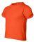 3301T Rabbit Skins Toddler Cotton T-Shirt Orange