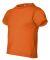 3301T Rabbit Skins Toddler Cotton T-Shirt Mandarin Orange