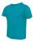 3321 Rabbit Skins Toddler Fine Jersey T-Shirt Vintage Turquoise